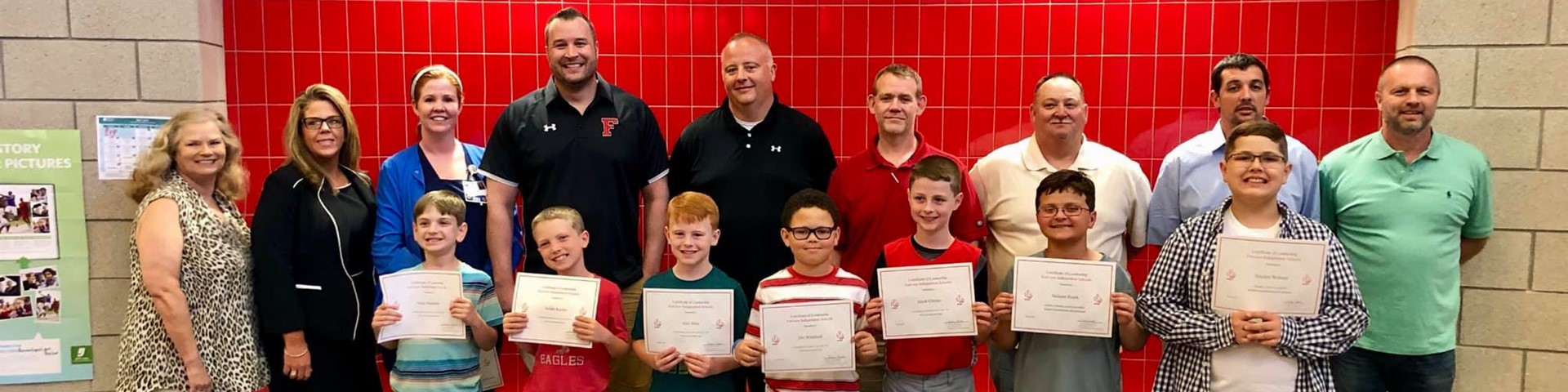 Fairview Board of Education Recognizes the Third Grade Basketball Team at May Board Meeting