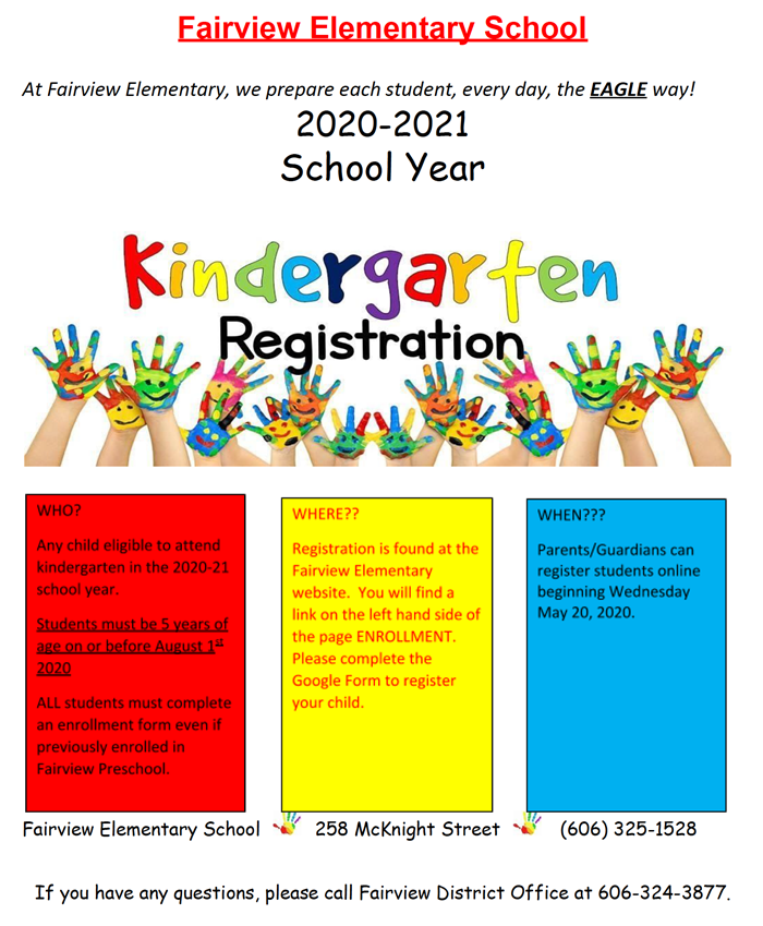 Kindergarten Enrollment Information