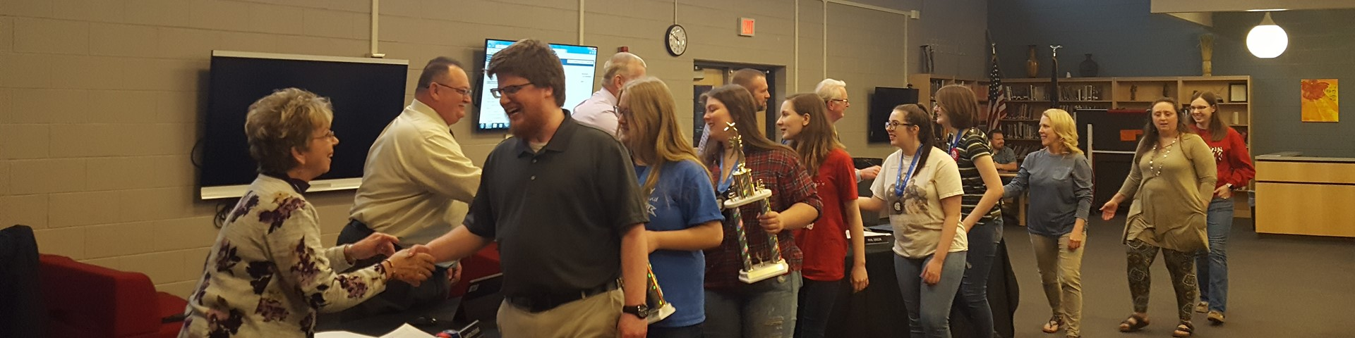Odyssey of the Mind Recognized at the Board Meeting for Winning State Competition!