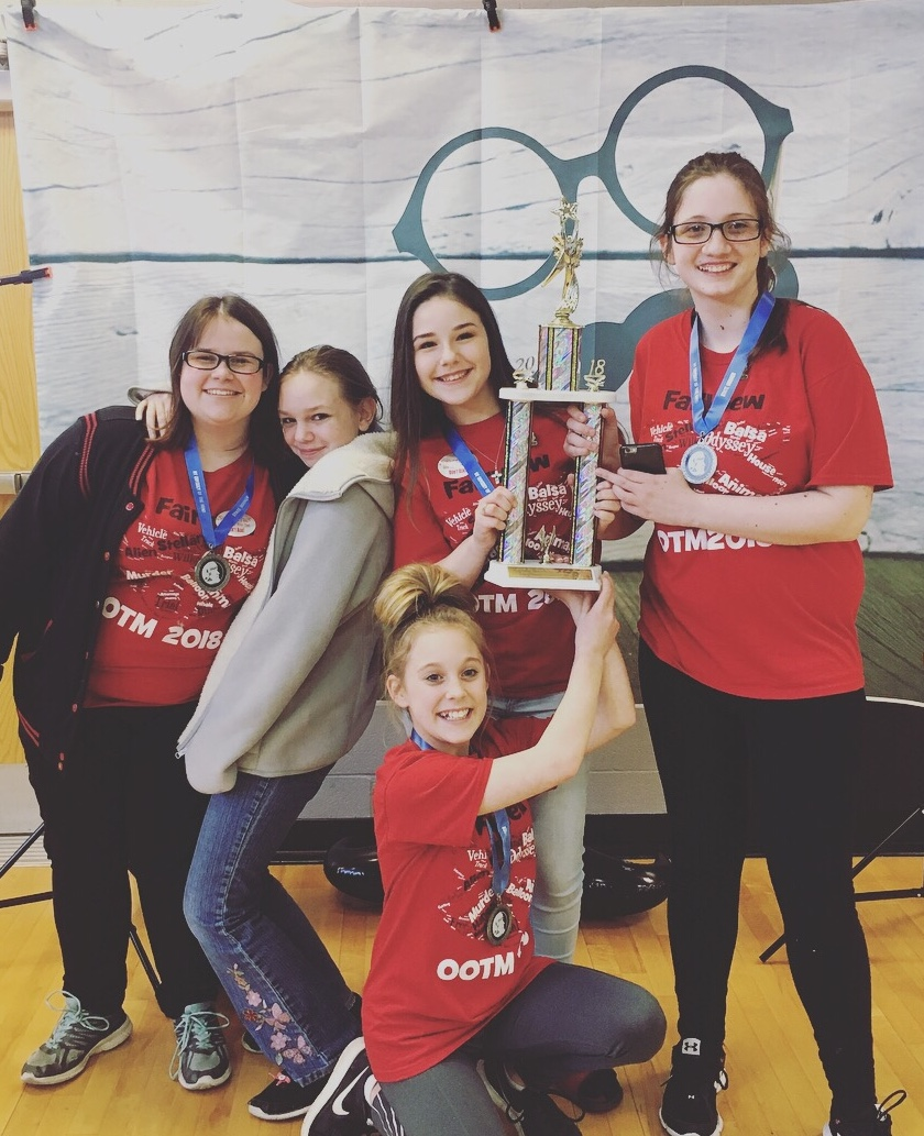 Middle School Odyssey of the Mind State Champions